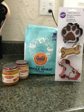 The Items I used for dog treats.
